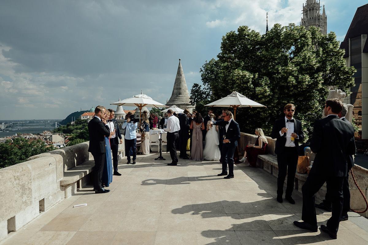 Black tie wedding in Budapest