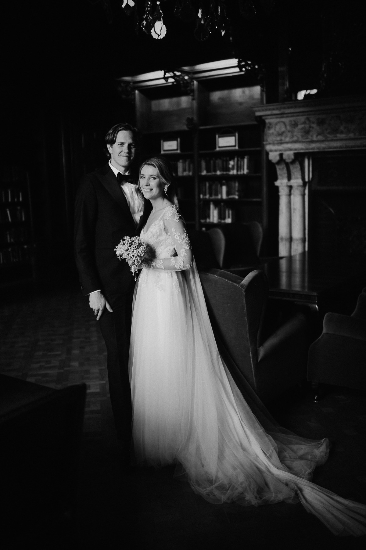 Wenckheim Palace wedding couple