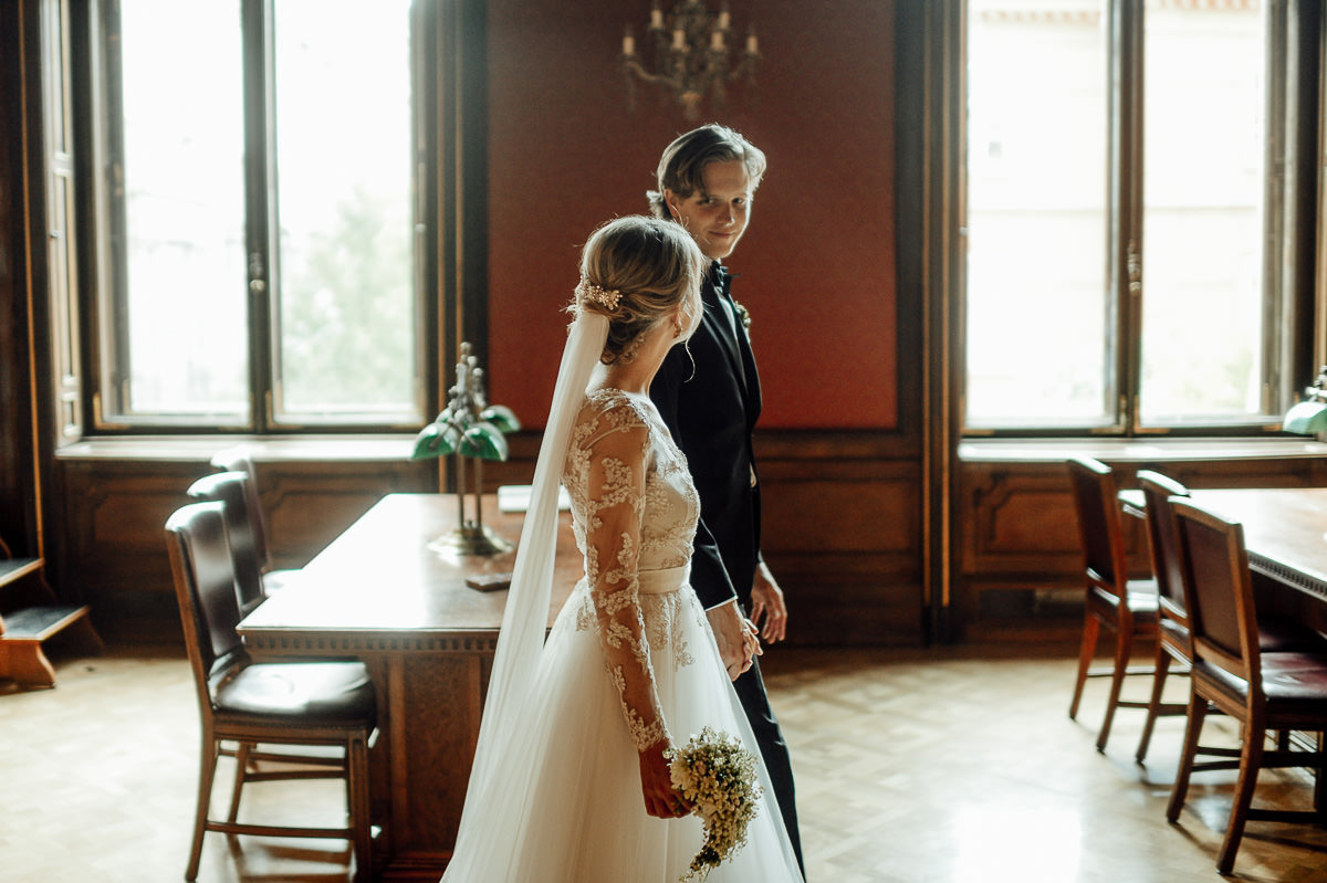 Wenckheim Palace wedding couple portrait