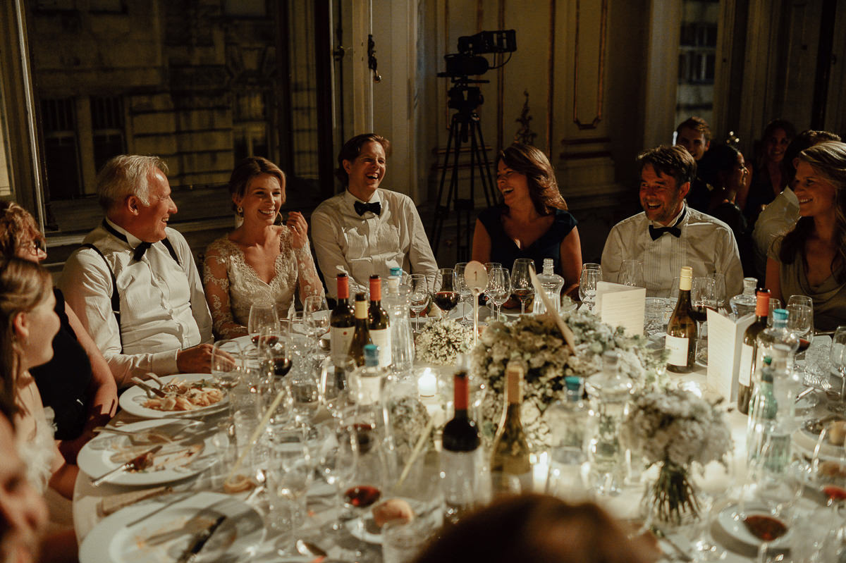 Wenckheim Palace wedding dinner