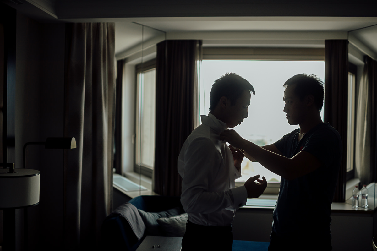 Groom in Hotel Hilton Budapest