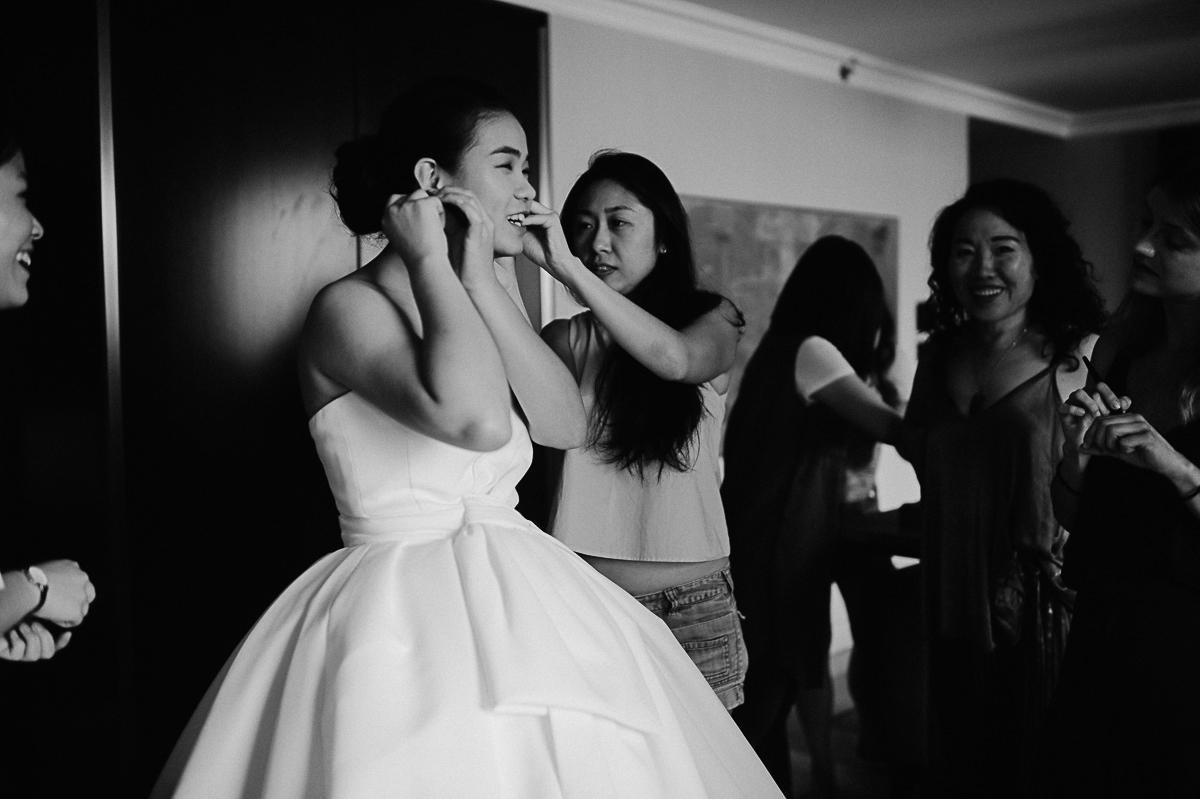 wedding preparation in Hotel Hilton Budapest