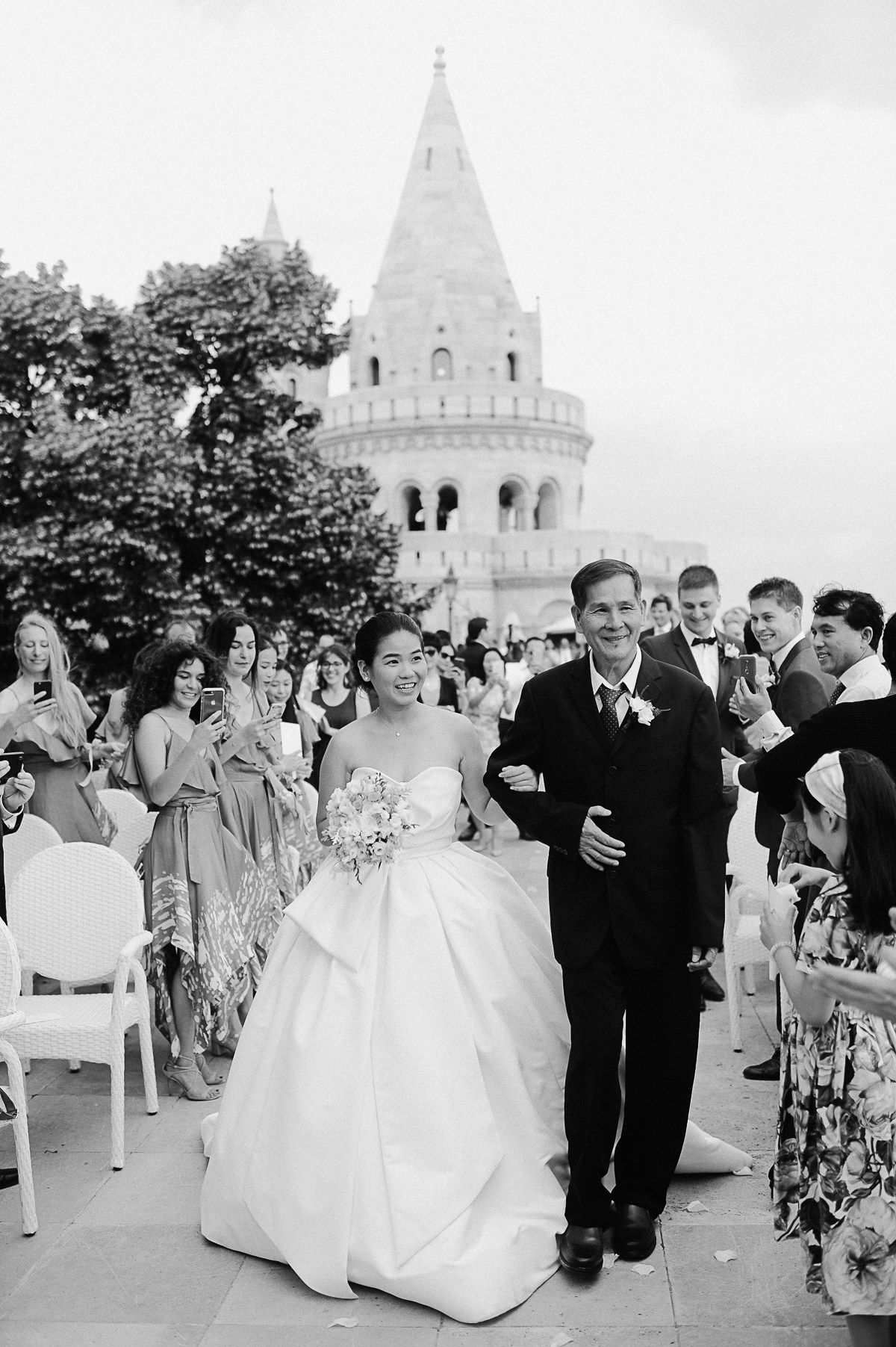 wedding ceremony at Fisherman's Bastion