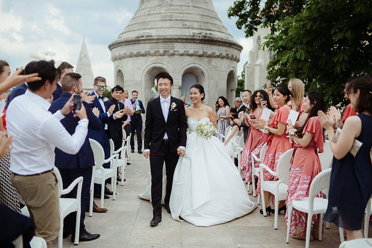 wedding ceremony at Fishermans Bastion