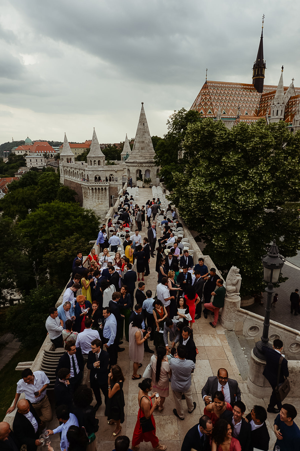 Wedding reception on the terrace of Fishermans Bastion