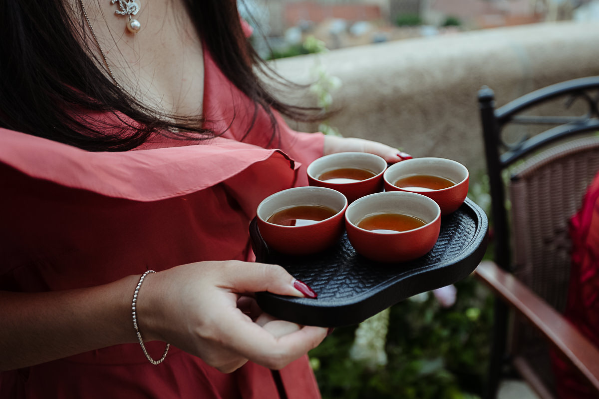 Tea ceremony on the top of Fishermans Bastion