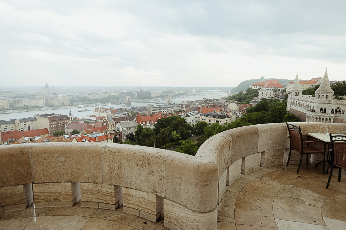Budapest view from Fishermans Bastion