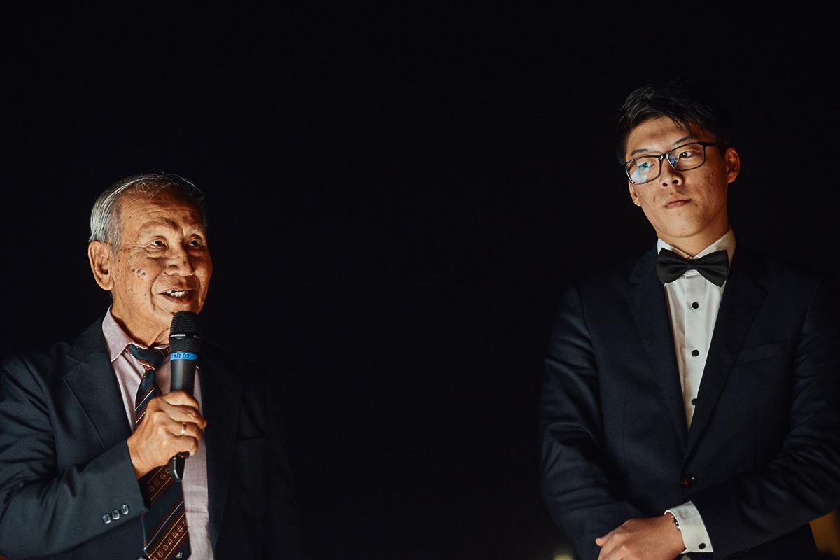 wedding reception on Fishermans Bastion, speech