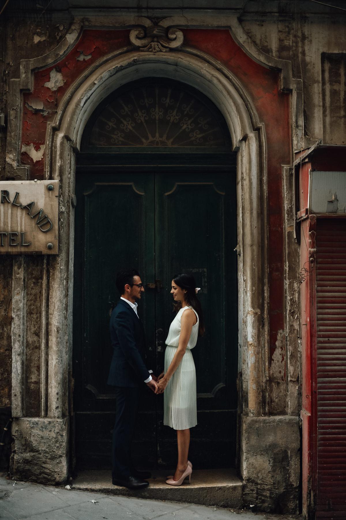 Wedding couple in Valletta
