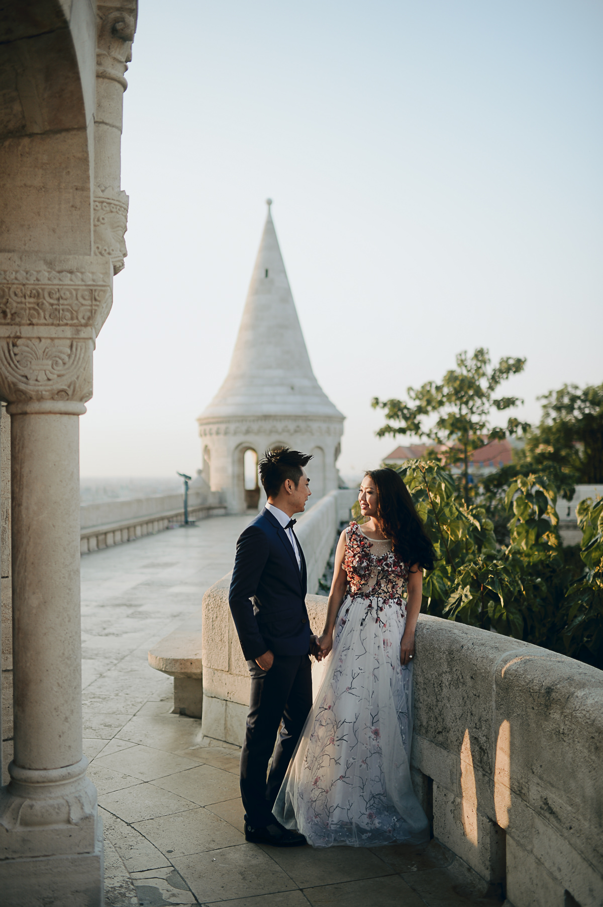 sun rise pre wedding photo session at Fishermans Bastion