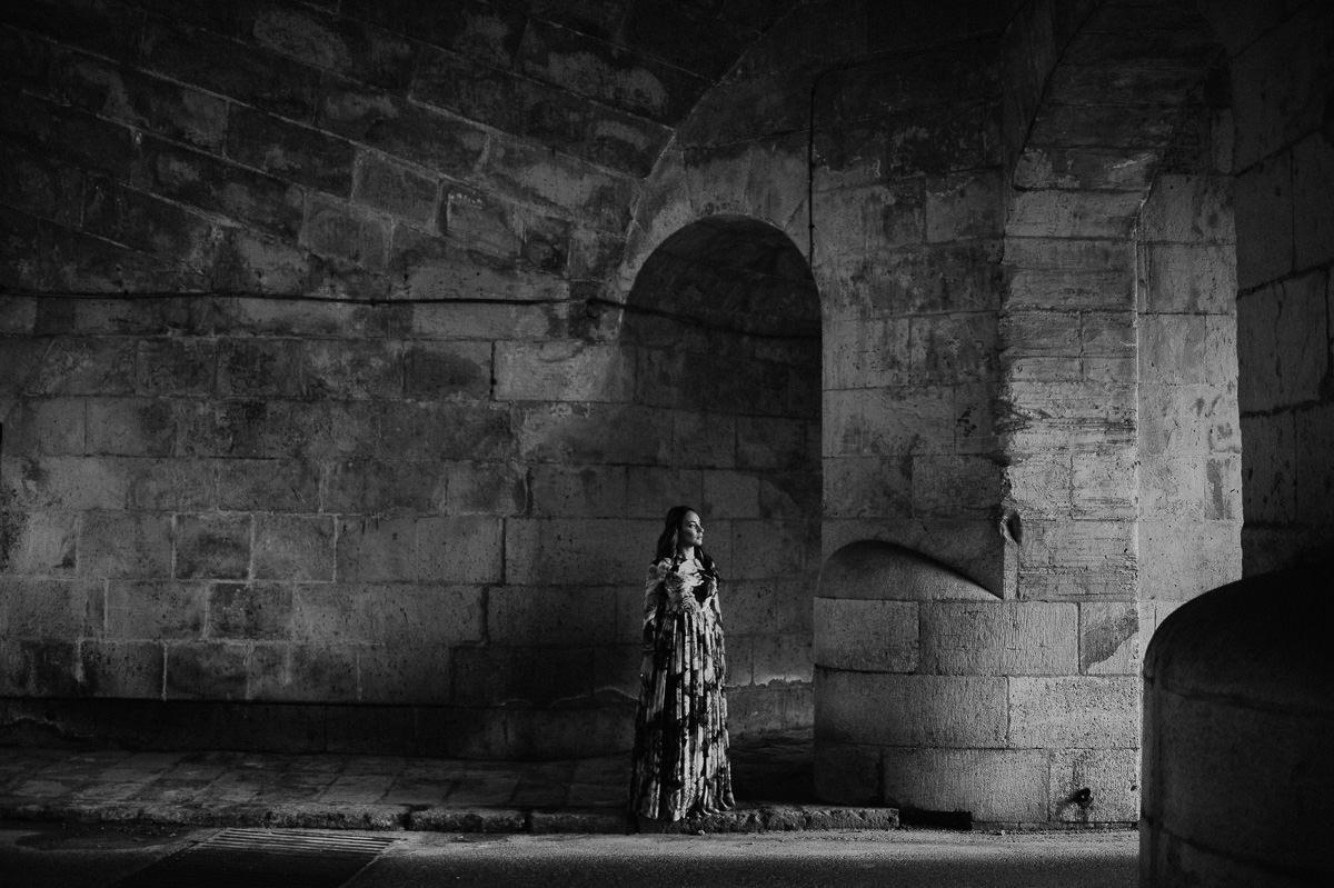 Bride portrait in Valletta