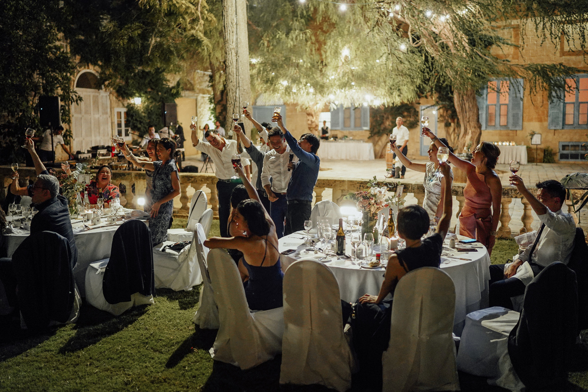Wedding dinner in Malta