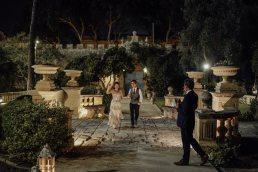 Wedding dinner in Malta villa Bologna