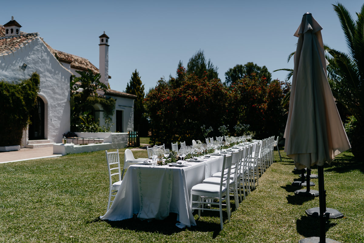 Wedding decor in Mijas San Jose Hacienda