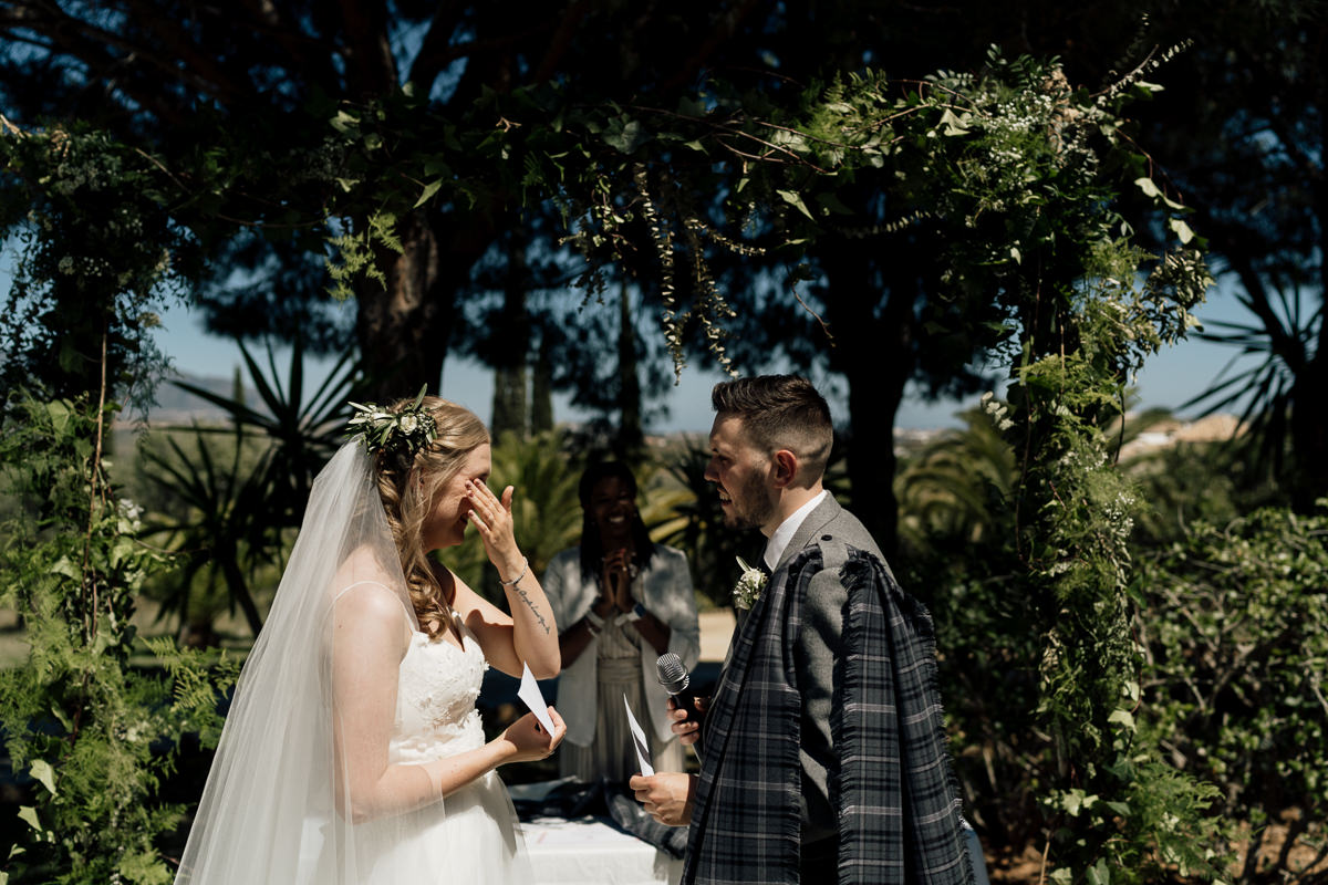 wedding Ceremony at Hacienda San Jose, Mijas