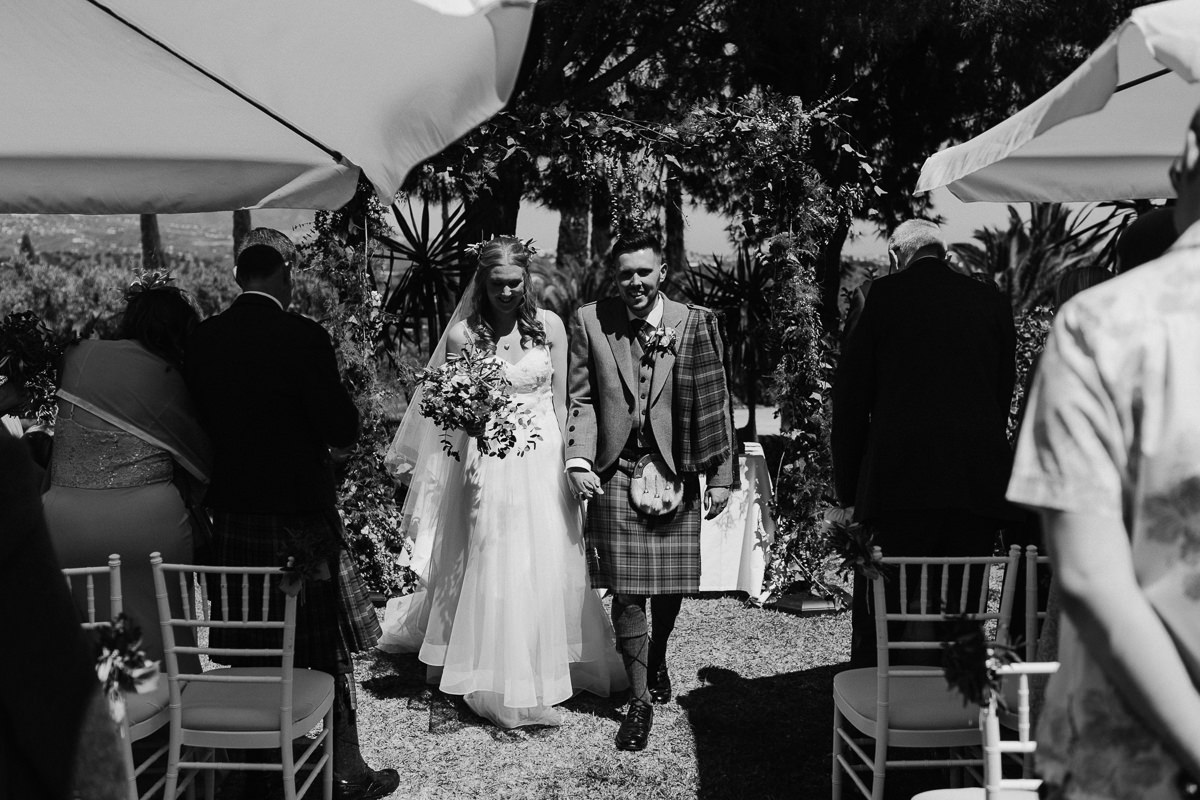 wedding Ceremony at Hacienda San Jose, Marbella