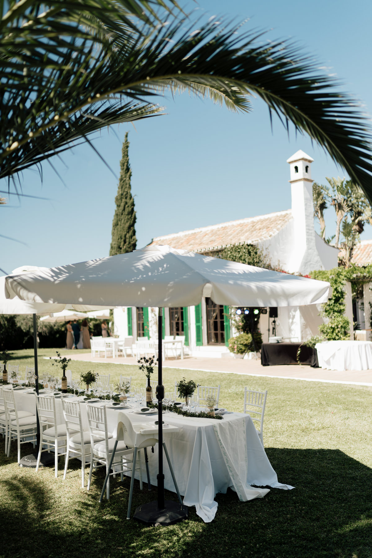 Wedding reception set up iat Hacienda San Jose, Mijas