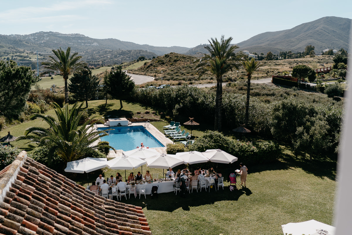 Wedding reception at Hacienda San Jose, Mijas