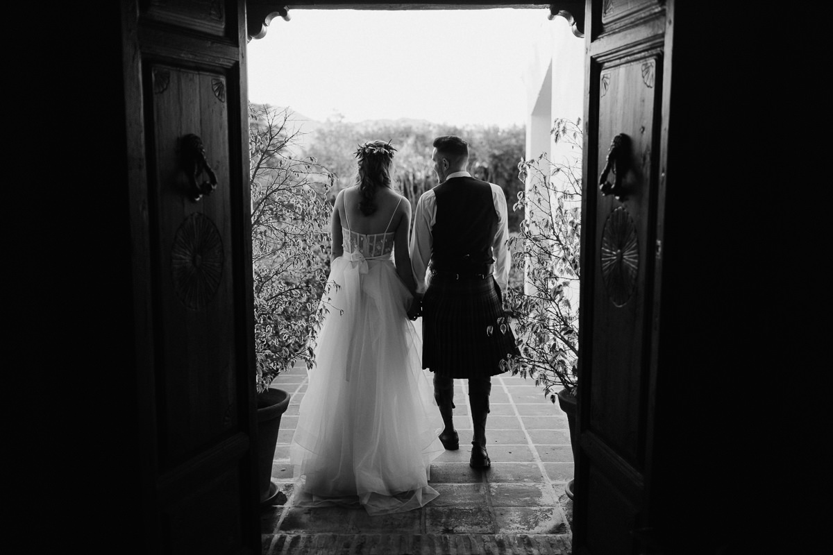 Wedding couple portrait at Hacienda San Jose, Mijas