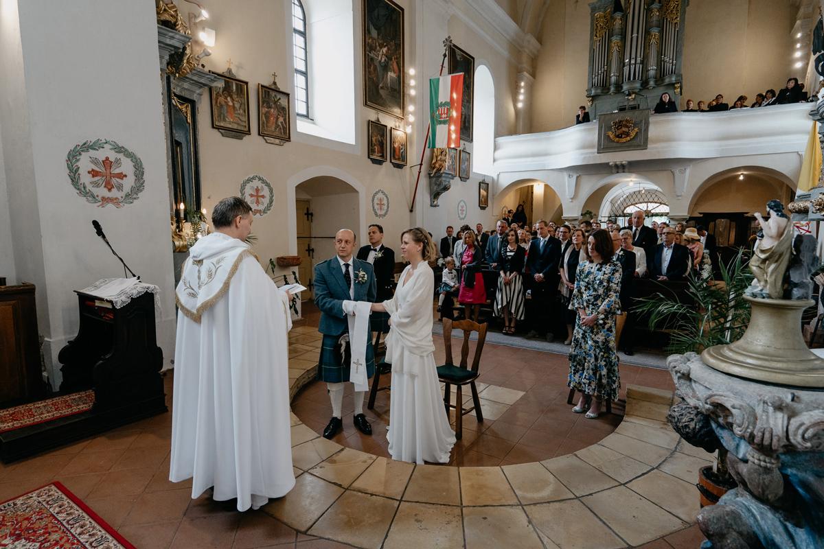 Church ceremony in Austria wedding