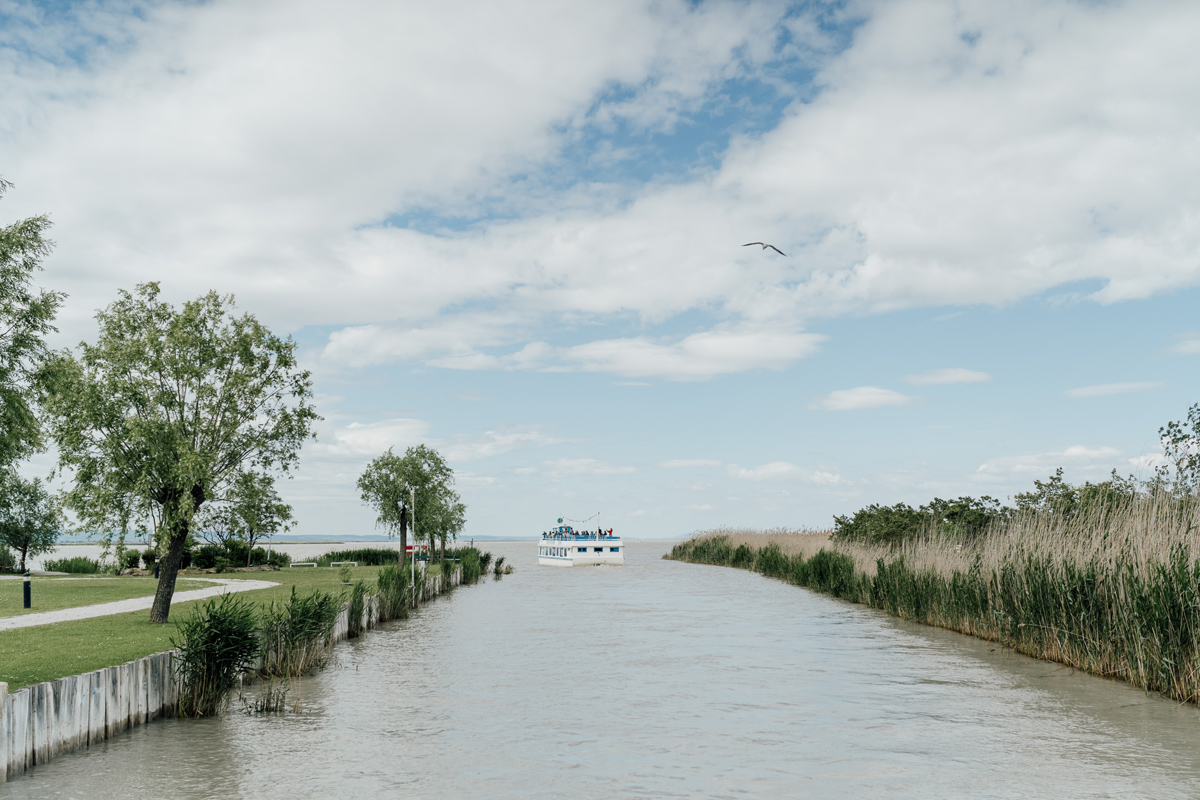 boat ride on Ferto lake, Neusiedl Lake