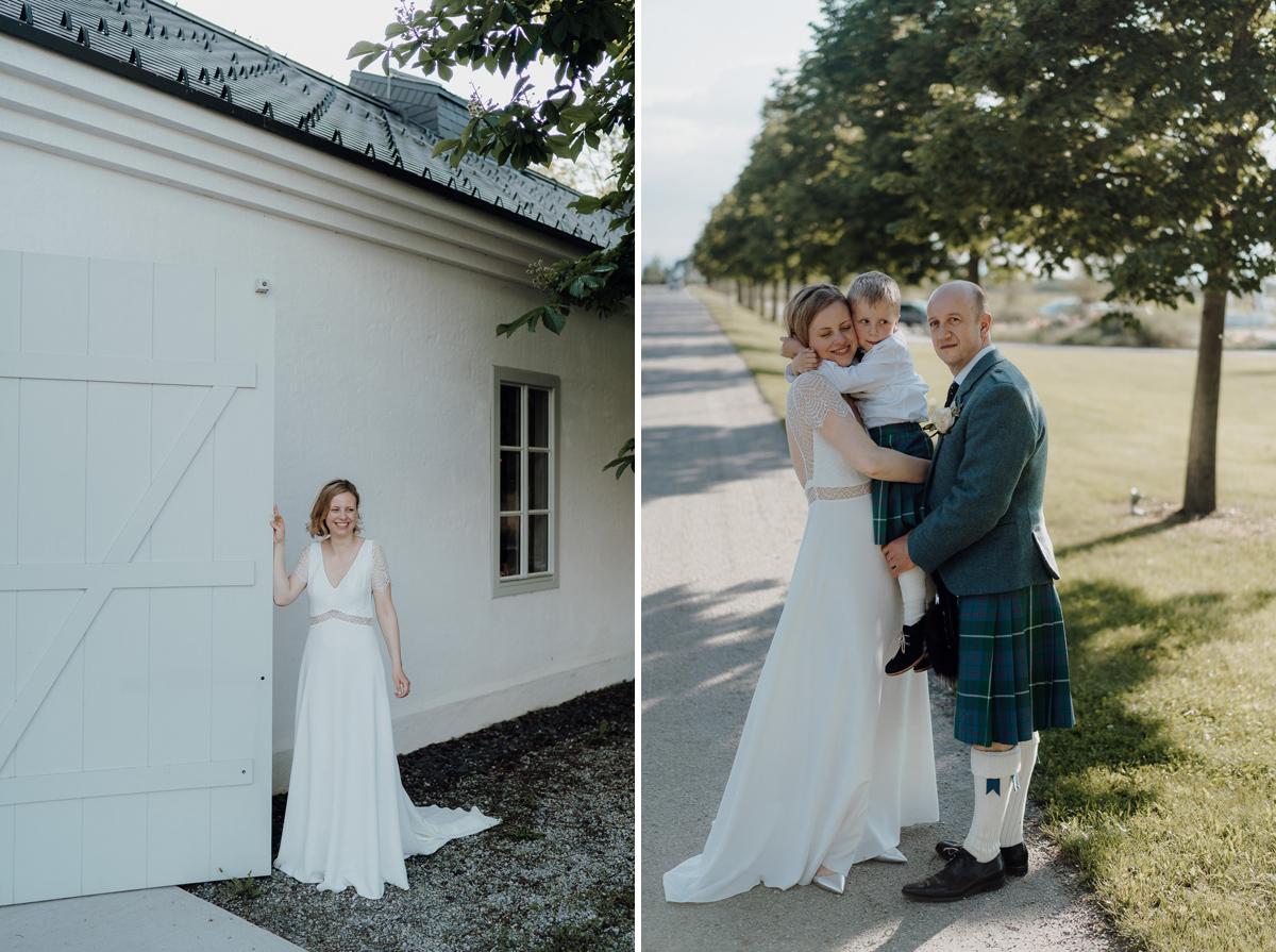 wedding couple portrait at Kalandahaus Esterhazy Winery wedding