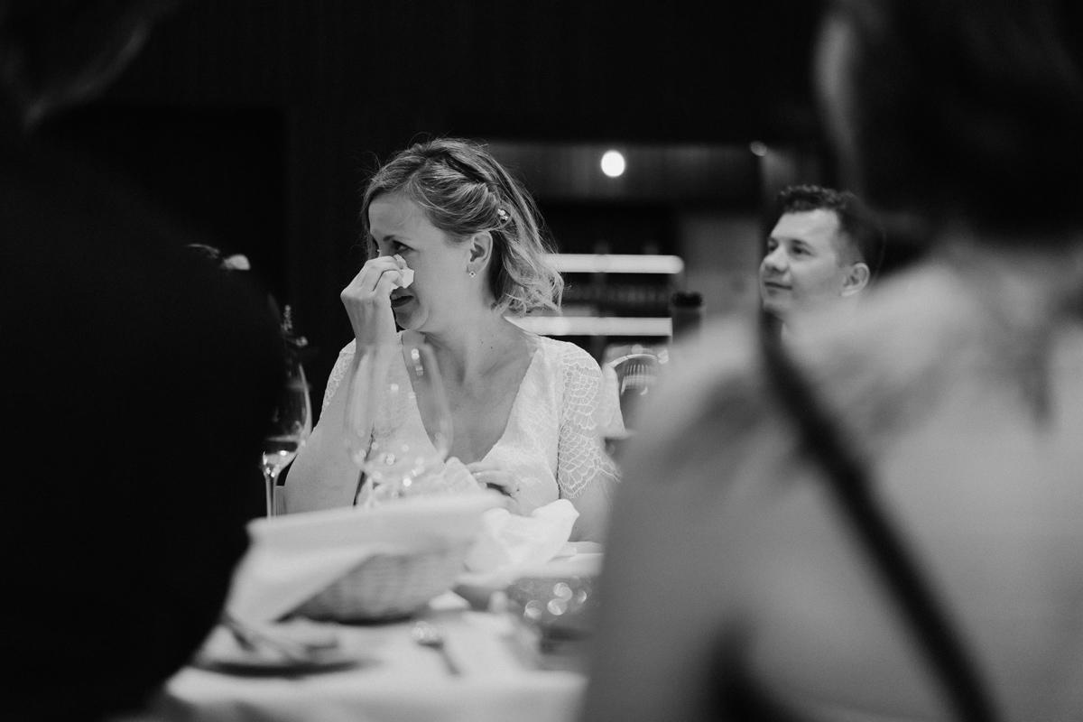bride crying of joy