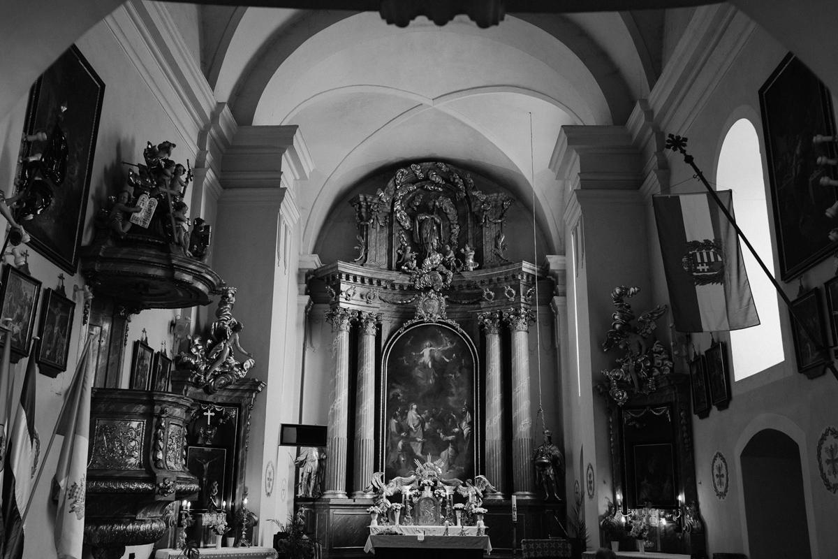 inside catholic church