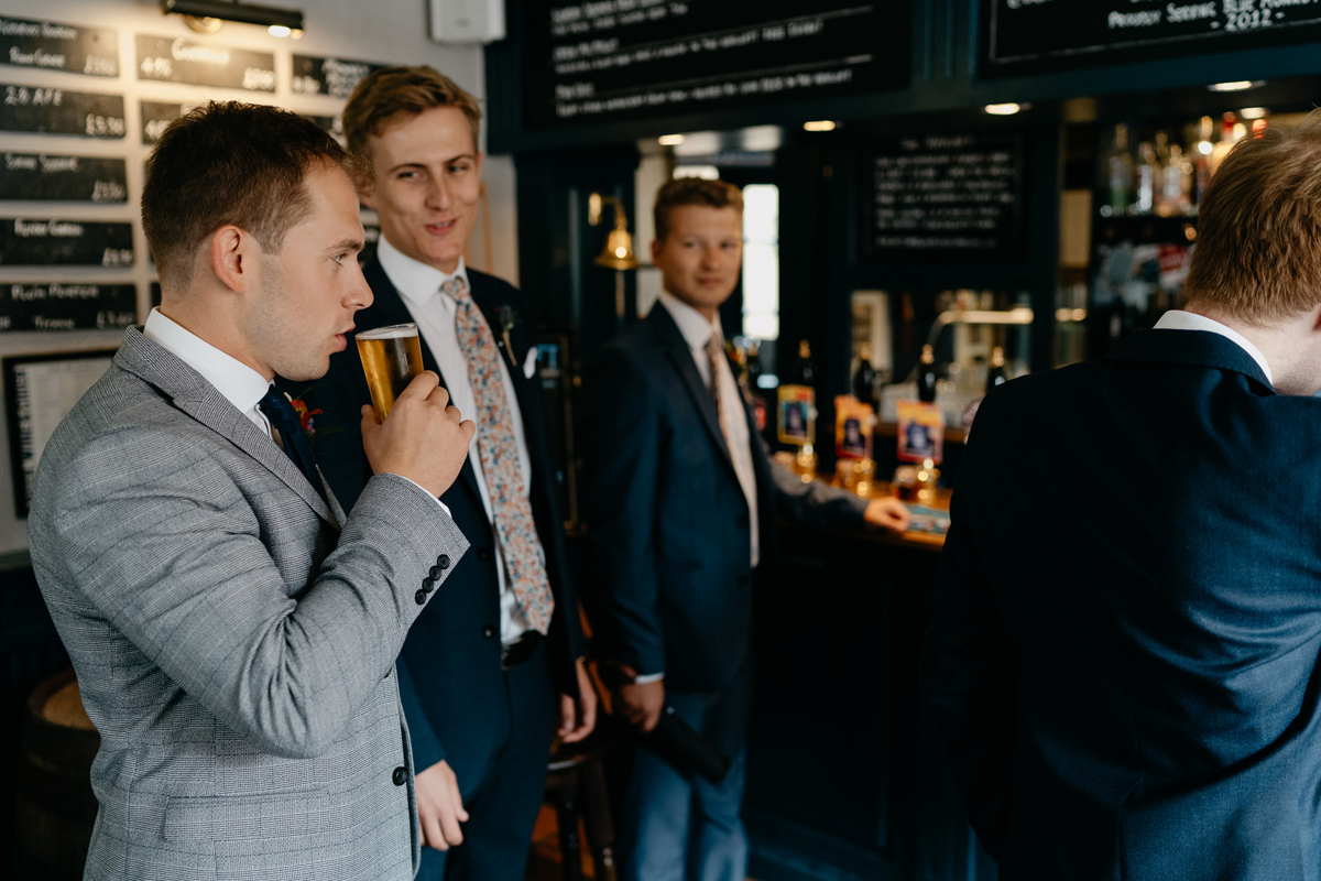 groomsmen in the Organ grinder pub in Loughborough