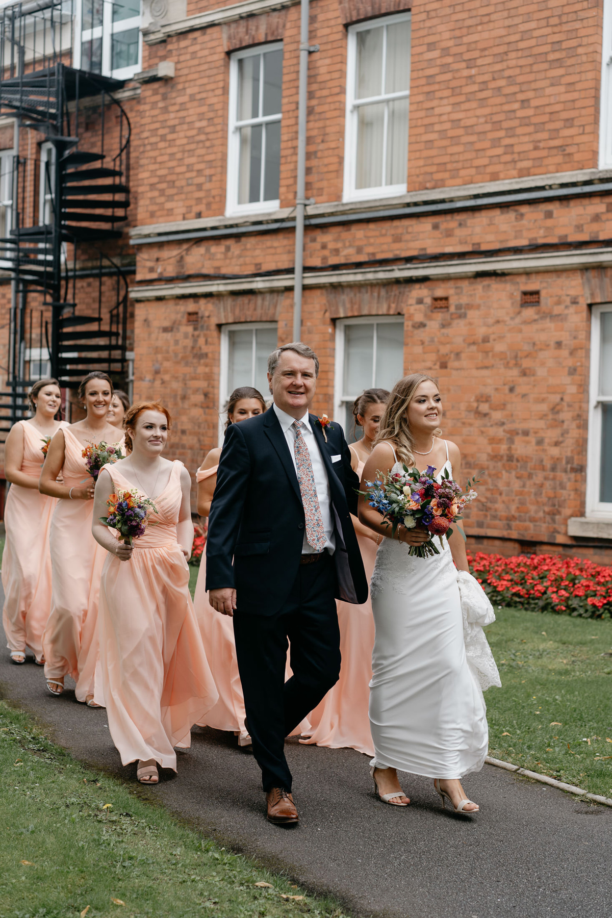 Bridal party at the Loughborough registry Office