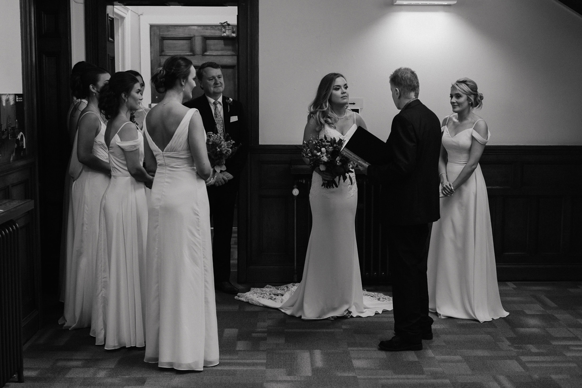 wedding ceremony at the Loughborough registry Office