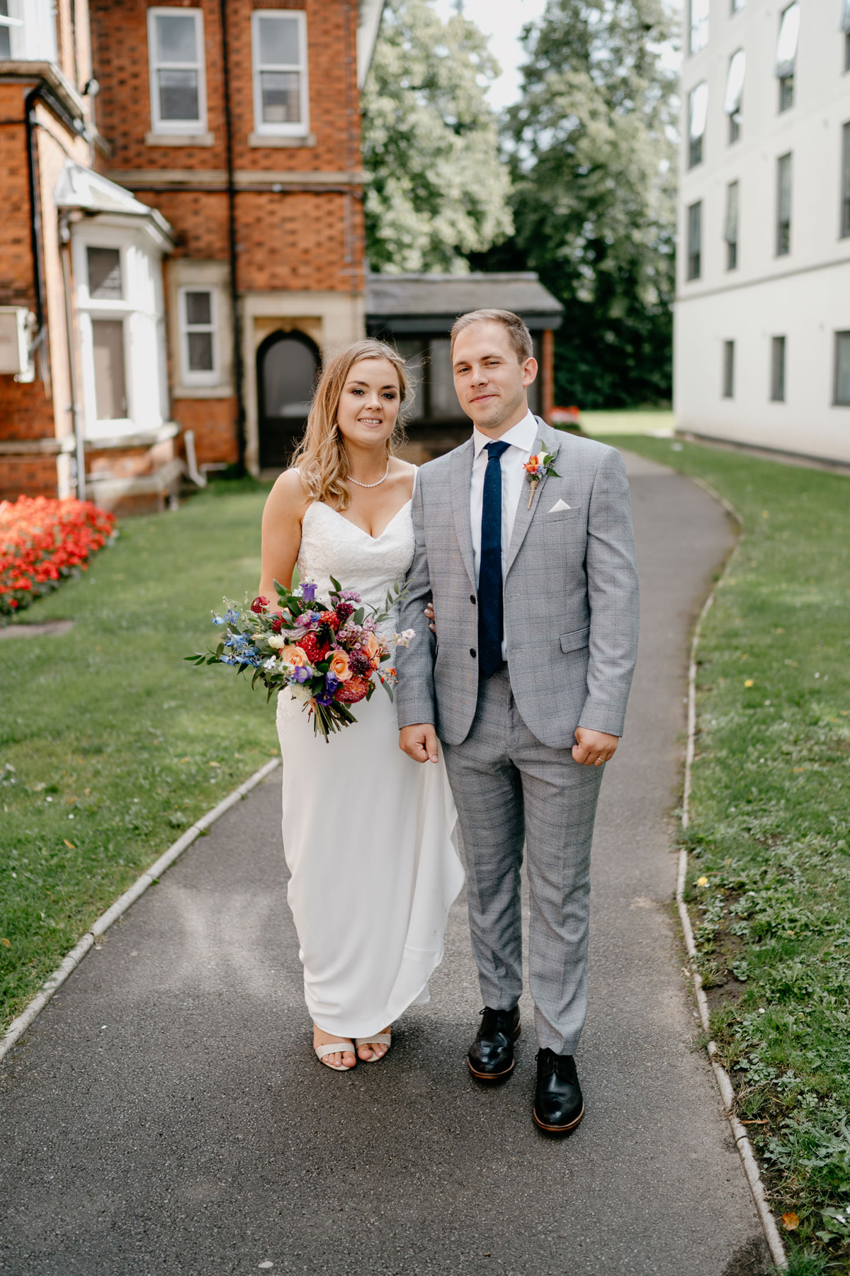 wedding couple at at the Loughborough registry Office