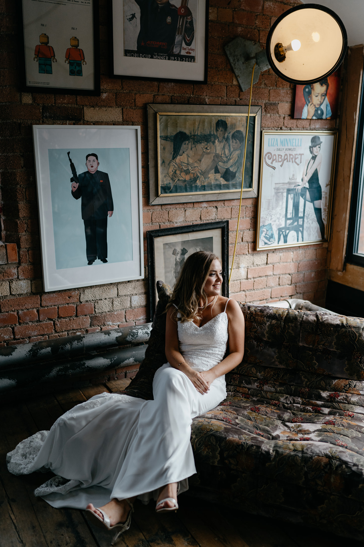 bride portrait at a Loughborough unique wedding venue