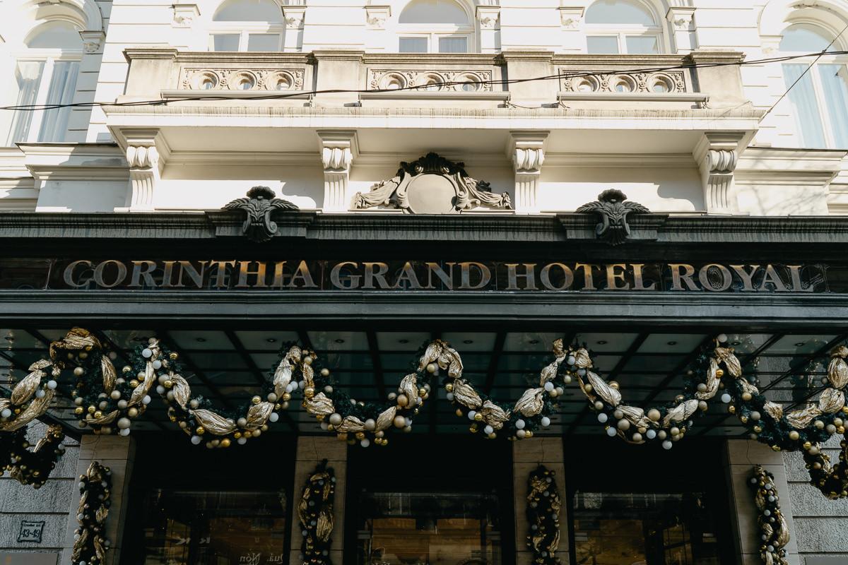 Entrance of Corinthia Hotel Budapest