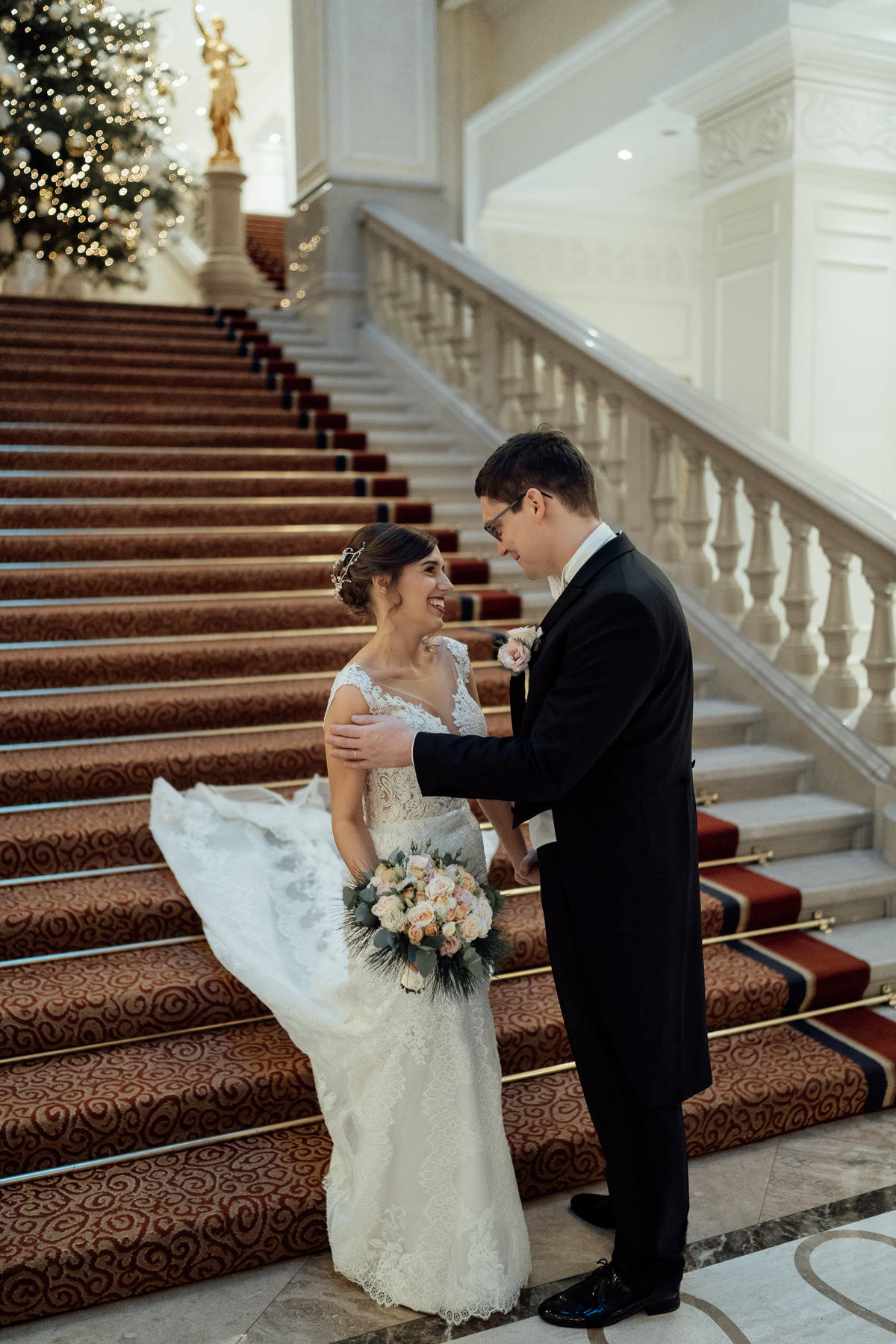 First look in Corinthia Hotel Budapest on grand staircase