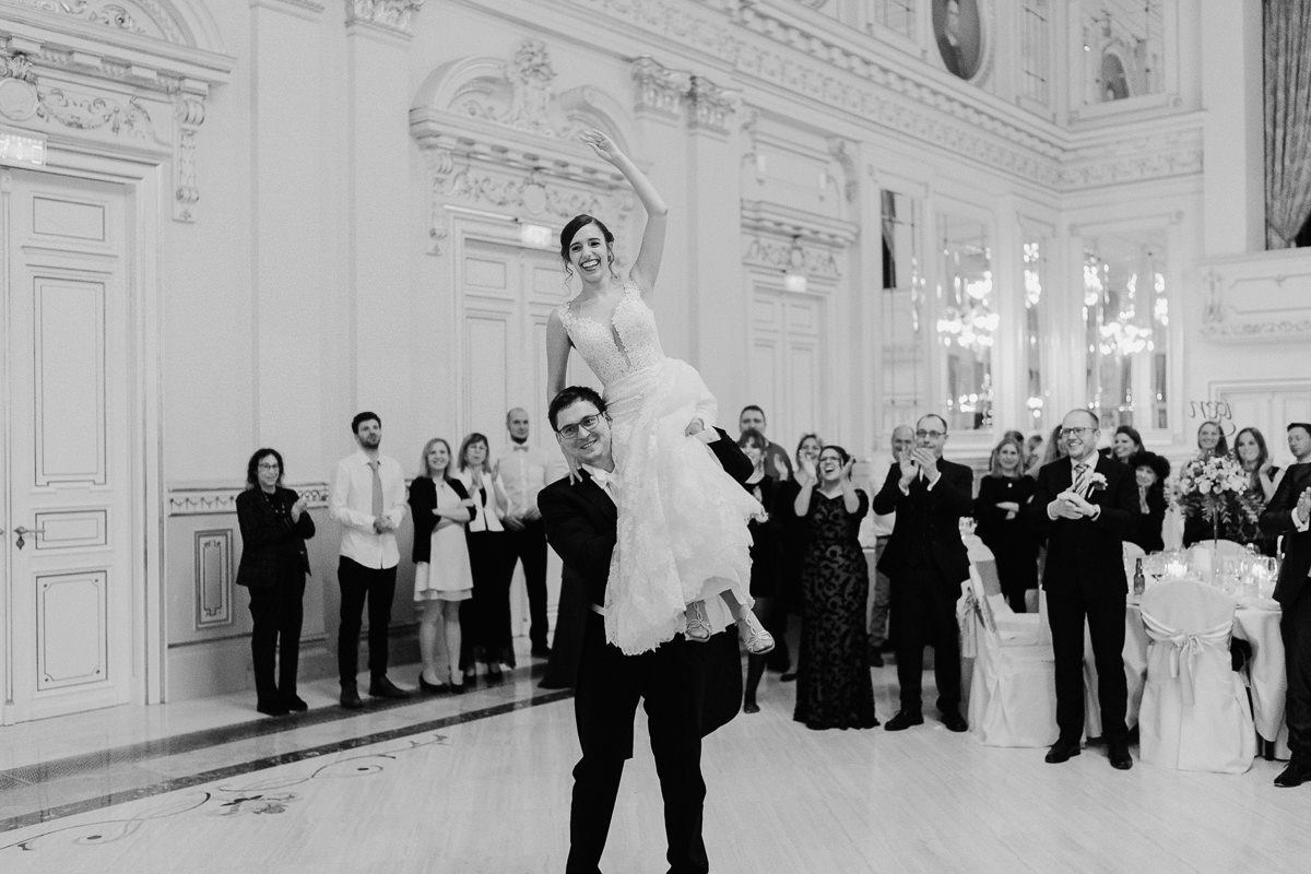 First dance in Grand Ballroom in Corinthia Hotel Budapest wedding