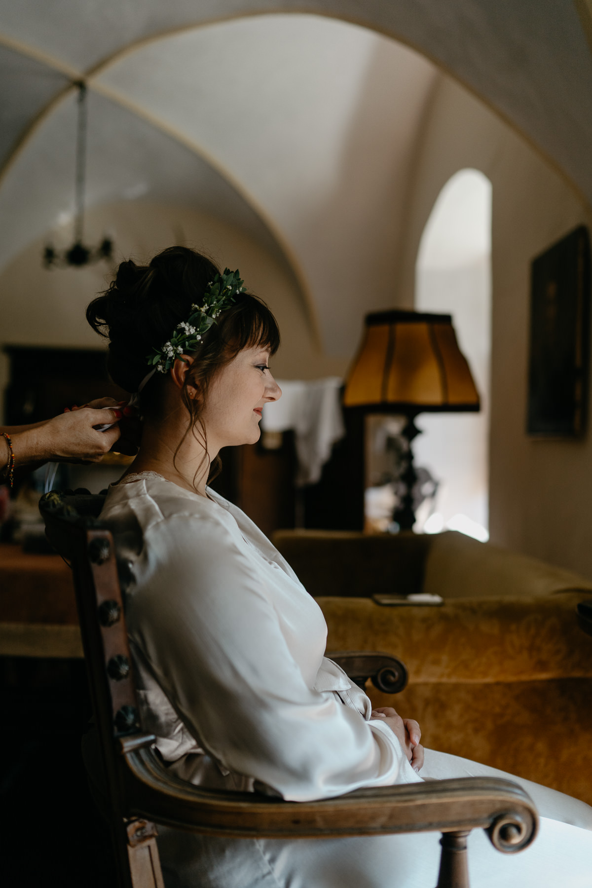 Bride getting ready at Castle Wedding Austria