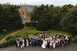 esküvői családi csoportkép