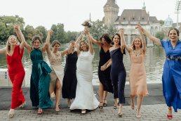Esküvői csoportkép készítése