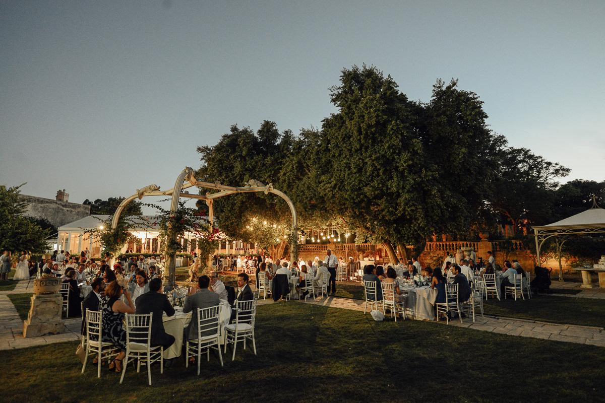 Wedding venue Malta Villa Bologna at night