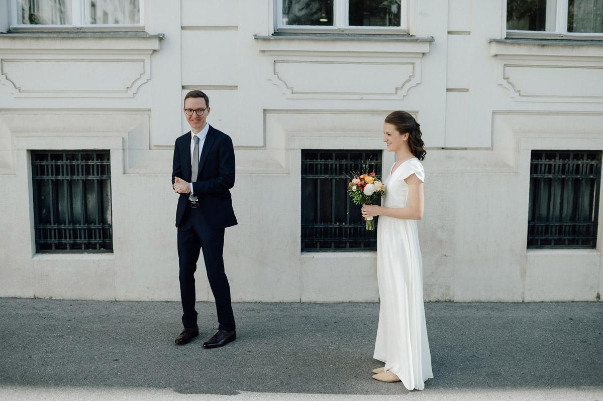Micro wedding Vienna first look