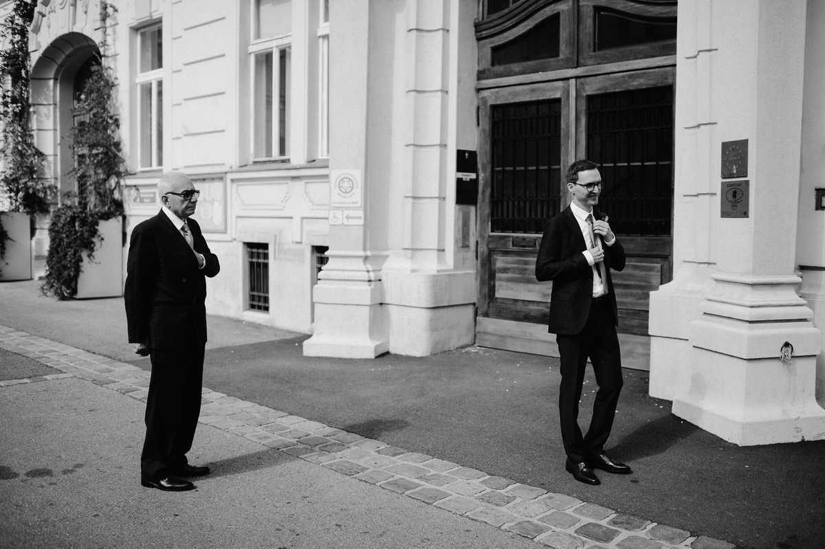 Groom and his dad in Vienna