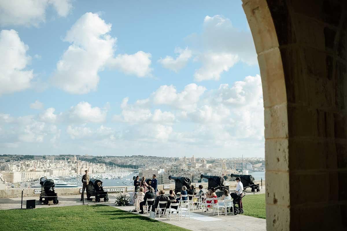 Micro wedding ceremony overlooking the sea