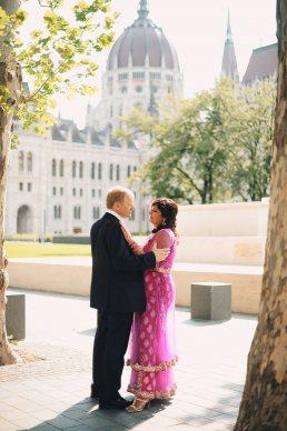 esküvői pár Parlamentnél