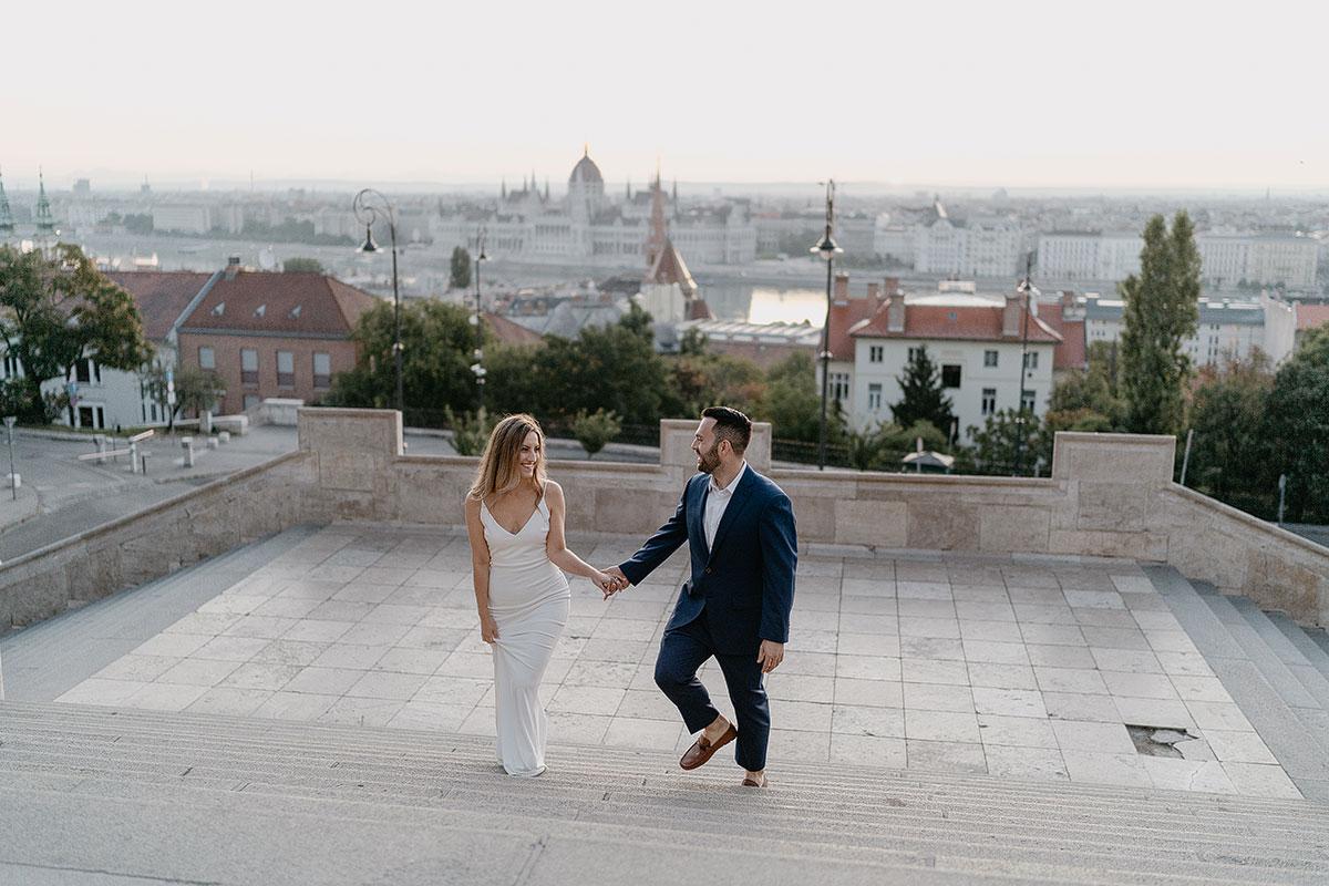 Kreatív esküvői fotózás helyszín Budapest Halászbástya